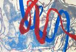 Farbmarker auf Druck auf Papier - 50 x 70 cm