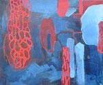 Menschwerdung, Acryl a. LW. - 50 x 60 cm