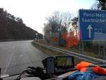 MietKühler auf dem Weg nach Frankreich