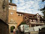Anlieferung auf die Burg in Nürnberg