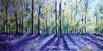 Frühlingswald - Öl mit Acrylgrundierung - 50 X 100 cm (verkauft)