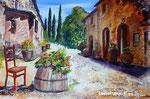 Toskana-Landschaft - Acryl - 40 X 60 cm (vergeben)