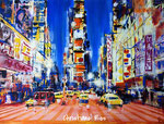 Times Square in New York City - Acryl - 60 X 80 cm (vergeben)