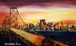 """San Francisco mit """"Golden Gate Bridge"""" - Acryl - 50 X 80 cm (vergeben)"""
