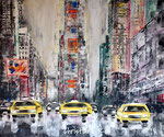 Times Square in New York City - Acryl - 50 X 60 cm (vergeben)