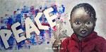 Porträt (entstanden nach Anschlägen in Paris im November 2015) - Acryl - 40 X 80 cm