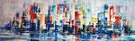 Fantasy Skyline - Acryl - 40 X 90 cm (vergeben)