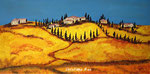 Toskana-Landschaft - Acryl - 40 X 80 cm (verkauft)