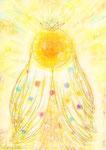 eluaさま ご依頼(B5) 本質の絵 < 叡智-太陽とともに >