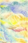 海 月 ~ Jellyfish ~ (ハガキ用紙 パステル) 9/30,2010