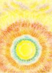 SUN -太陽の内側の愛- (B5サイズ パステル、色鉛筆) 10/19, 2011