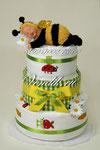"""Торт из памперсов """"Сладкий сон"""" Малышка Пчёлка . Подарок на рождение."""