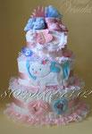 Торт из подгузников для двойняшек ©