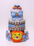 """Торт из памперсов для мальчика """" Весёлый лев"""""""
