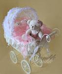 """© Беби букет в плетёной колясочке """"Медвежата"""""""