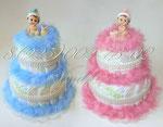 Торты из подгузников для двойняшек ©