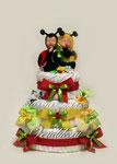 """Торт из памперсов в подарок для новорожденных двойняшек """" Летние сны"""" ©"""