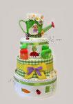 """Подарок новорожденному ребёнку Торт из памперсов  """"Весёлая грядка"""" ©"""
