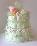 Подарки новорожденным Торты из памперсов