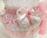 """Торт из памперсов """" Розовые сны  """" VIP подарок новорожденной девочке"""