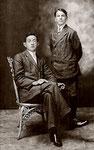 Paul Quesnel (assis) au collège de Rigaud en 1912. Merci à Madeleine Quesnel, fille de Albert pour la photographie