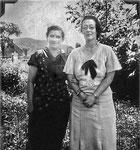 Émilienne Chevrier et Madeleine Quesnel en 1933
