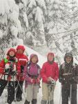 """De gauche à droite les """"5 sportifs"""" : Jeanine, Michel, Yvonne, Marie-Jo et Robert"""