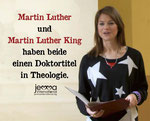 Martin Luther and Martin Luther King both had a PhD in theology.