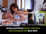 Jenny and Emma have had a weakness for Ben's bed all along.