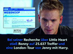 During his research about Little Heart, Ronny got 25.637 hits and a London tour of Jenny with Harry.