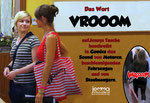 The word VROOOM on Jenny's bag describes the sound of motors, accelerating vehicles and vacuum cleaners in comics.