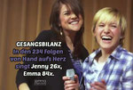 Song count! In the 234 episodes of Hand aufs Herz, Jenny sings 26x, Emma 84x.