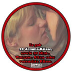 There were 22 Jemma kisses, as well as 18 mini, cheek, forehead or attempted kisses.