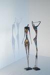 Stehende Figuren, Höhe ca. 90 cm