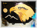 D 2b  Aigle avec lune et montagne
