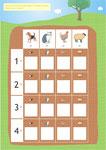 Eduquons ensemble les mathématiques avec Polo le lapin_La récolte des salades_plateau de jeu