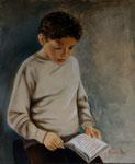 Matisse lisant (huile sur toile 55X46 cm),  Indisponible