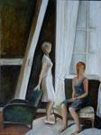 l'attente(acrylique sur toile 80X60 cm)