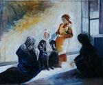 Femmes  (huile sur toile 61X50), collection particulière Luxembourg  g