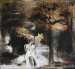 Claire de Lune, huile sur toile 65X60, coll. particulière Etat-Unis