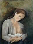 Maternité 1  (huile sur toile 72X54 cm)