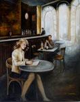 Café de la Gare (huile sur toile 100X80)