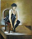 La Danseuse (huile sur toile 61X50 cm)