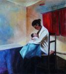 Maternité 2  (huile sur toile 45X50 cm)