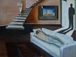 Aie (Acrylique sur toile 55X38 cm), collection familiale