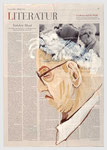 Eric J. Hobsbawm,  Hochschulprofessor, Historiker, Jude, Marxist, 2006, 40 X 55, Tempera auf Zeitungspapier