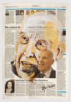 Empört Euch!, Stephane Hessel, 2013, 35 X 51,Gouache und Tempera auf Zeitungspapier