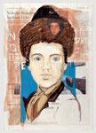 jüdischer Junge, 2009, 40 X 55, TGouache und Tempera auf Zeitungspapier