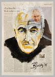 Peter Krämer, 2015, 40 x 55, Gouache und Tempera auf Zeitungspapier