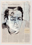Ludwig Hohl, hing seine Texte zu Hause auf der Wäscheleine auf, 2008, 39 X 56, Gouache undTempera auf Zeitungspapier ,